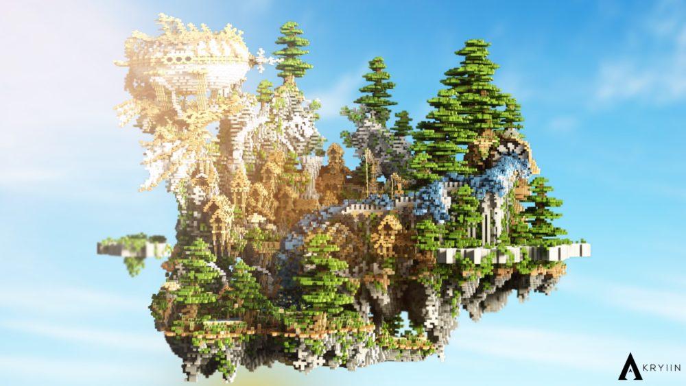 hub lobby for Minecraft server