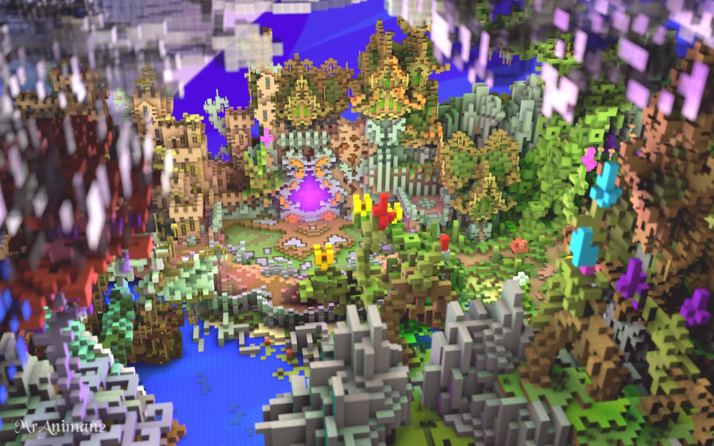 Sky spawn hub for Minecraft server
