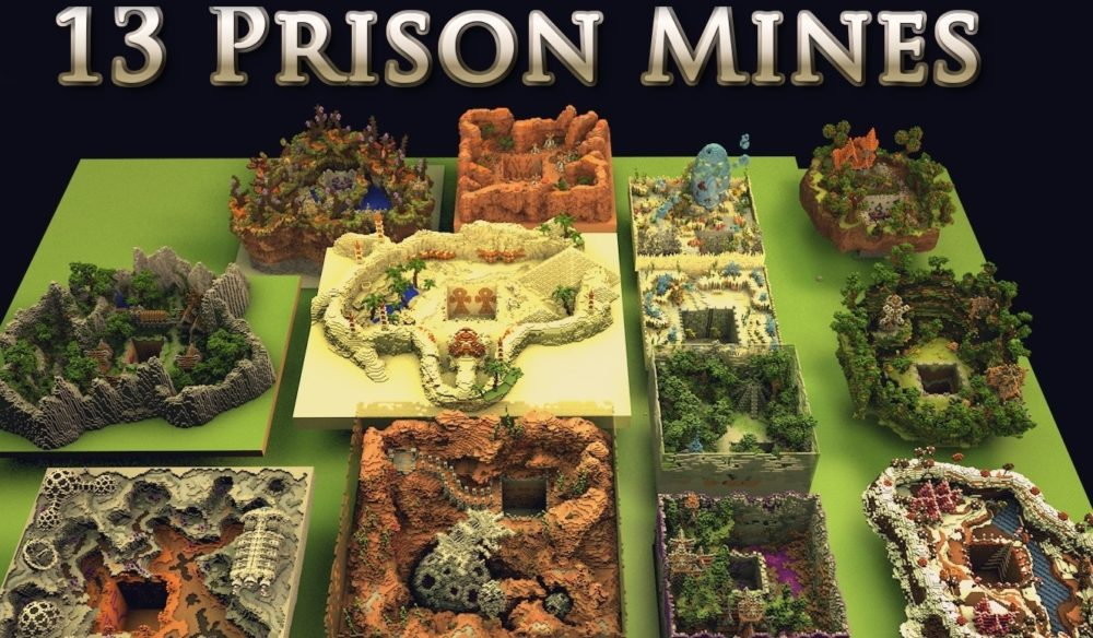 13 prison mines for Minecraft server