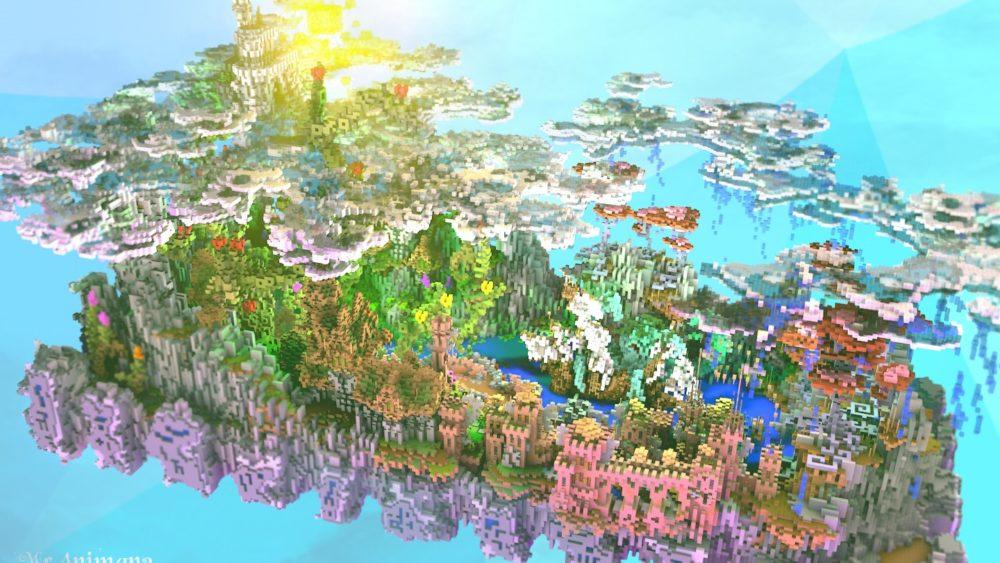 Sky spawn hub for Minecraft server