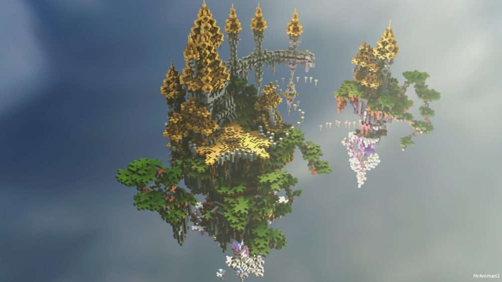 Sky spawn for Minecraft server