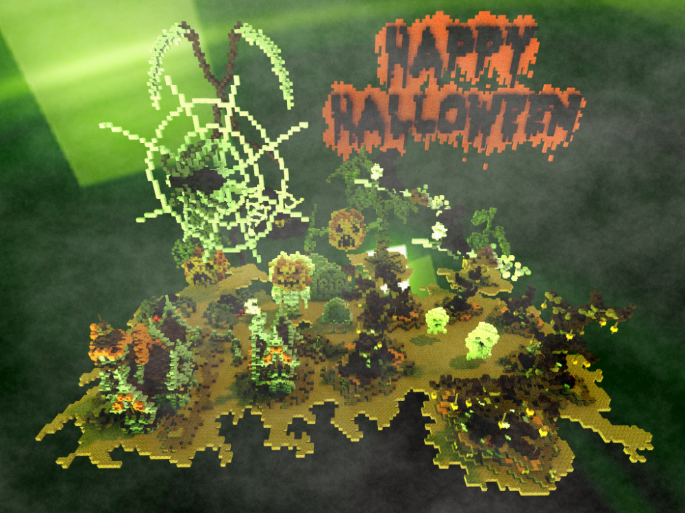 Minecraft Halloween decorations